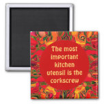 funny kitchen cooks pin 2 inch square magnet