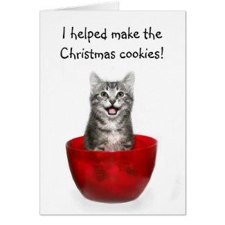 Funny kitten Christmas card