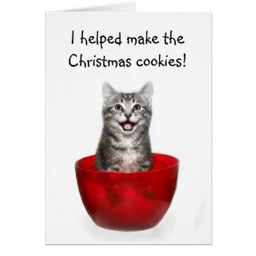 Christmas Themed Funny kitten Christmas card