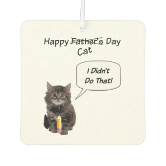 Funny Kitten Father's Day Car Air Fresheners
