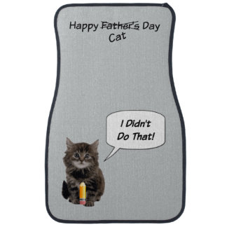 Funny Kitten Father's Day Car Mats