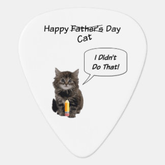 Funny Kitten Father's Day Guitar Pick