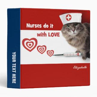 Funny Kitten Nurse Custom Gift Binders