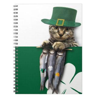 Funny Kitten. St. Patrick's Day Fun Notebook