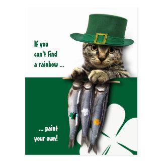 Funny Kitten St. Patrick's Day Postcards