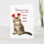 Funny Kitten Valentine Holiday Card