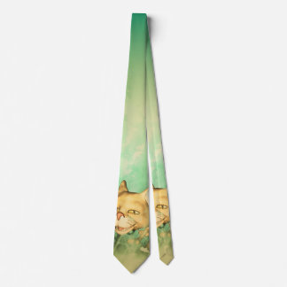 Funny kitten with baby cat neck tie