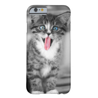 Funny Kitten With Tongue Hanging Out Barely There iPhone 6 Case