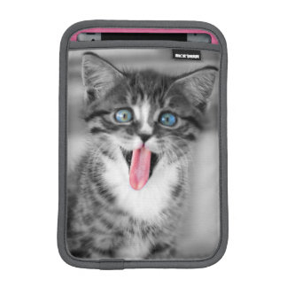 Funny Kitten With Tongue Hanging Out iPad Mini Sleeve