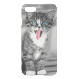 Funny Kitten With Tongue Hanging Out iPhone 8/7 Case