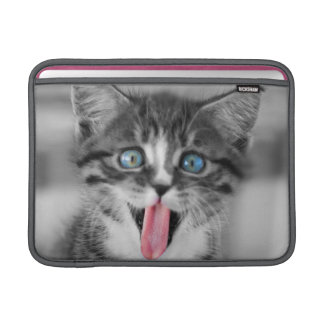 Funny Kitten With Tongue Hanging Out MacBook Sleeve