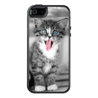Funny Kitten With Tongue Hanging Out OtterBox iPhone 5/5s/SE Case
