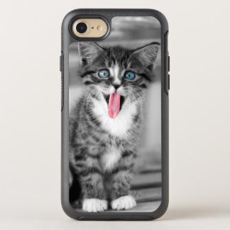Funny Kitten With Tongue Hanging Out OtterBox Symmetry iPhone 7 Case