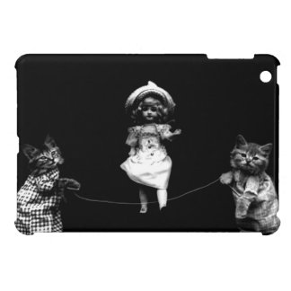 Funny Kittens Cat and Doll Jumping Rope iPad Mini Cover