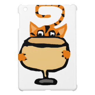 Funny Kitty Cat Drinking White Wine Cover For The iPad Mini