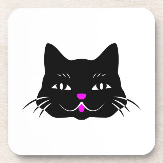 Funny Kitty Cat Face Drink Coasters