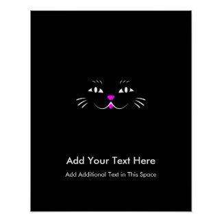 Funny Kitty Cat Face Poster