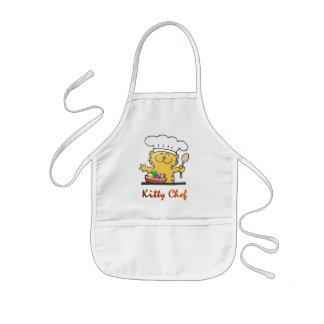 Funny Kitty Chef Can Cook Kids' Apron