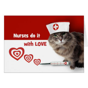 Nurses week cards greeting photo cards zazzle funny kitty custom nurses week greeting cards m4hsunfo Image collections