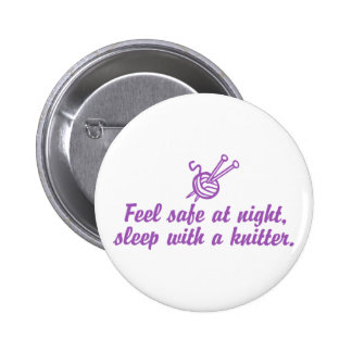 Funny Knitting 2 Inch Round Button