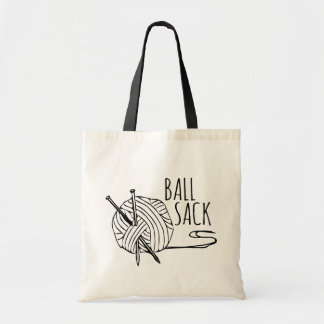 Funny Knitting Ball Sack Tote Bag