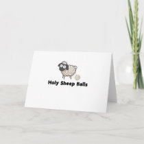 Funny Knitting Crochet Craft Holy Sheep Balls Holiday Card