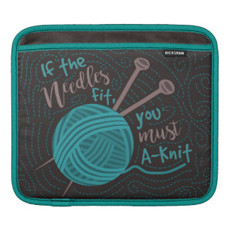 Funny Knitting Humor Knitters Needles Yarn Sleeve For iPads