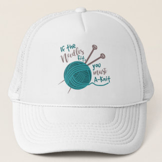 Funny Knitting Knitter Joke Needles Yarn Trucker Hat