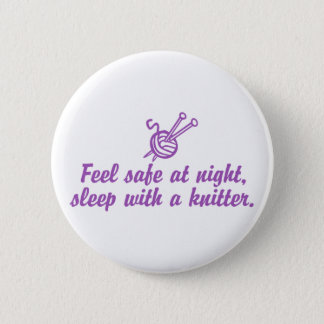Funny Knitting Pinback Button