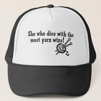 Funny Knitting Trucker Hat