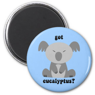 Funny Koala Bear 2 Inch Round Magnet