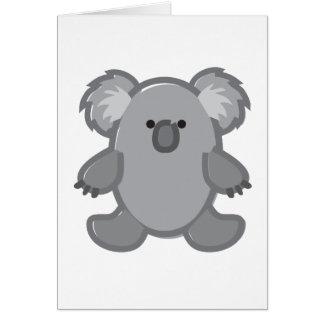 Funny Koala on White Card