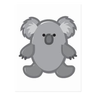 Funny Koala on White Postcard