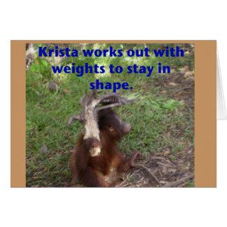 Funny Krista Orangutan Card