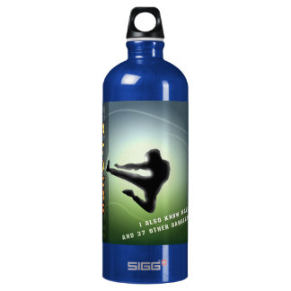 Funny Kung-Fu Aluminum Water Bottle