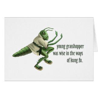 Funny Kung Fu Grasshopper Card