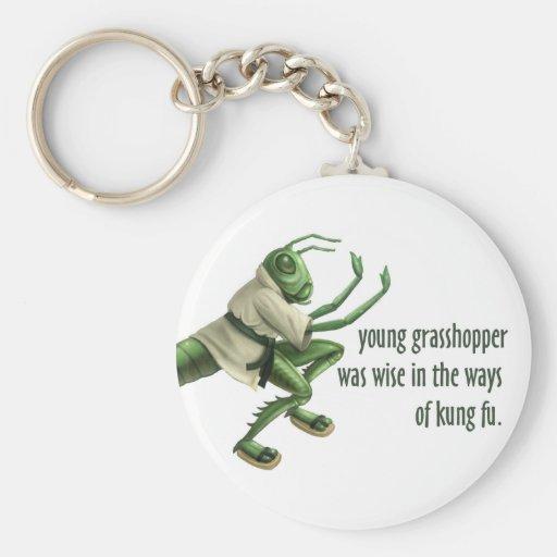 Funny Kung Fu Grasshopper Key Chains