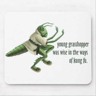 Funny Kung Fu Grasshopper Mouse Pad