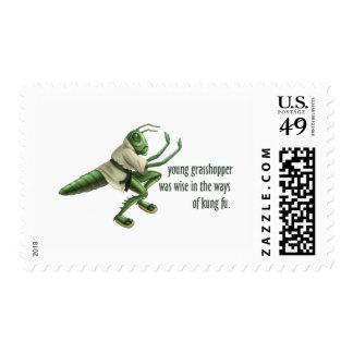 Funny Kung Fu Grasshopper Postage Stamp