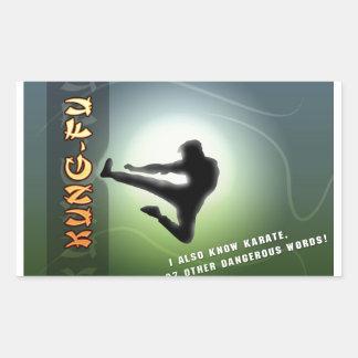 Funny Kung-Fu Rectangular Sticker