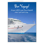Funny Lab Bon Voyage for cruise. Greeting Cards