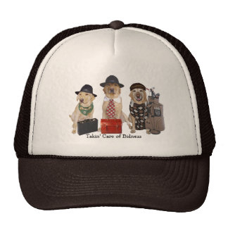 Funny Lab Business Men Trucker Hat