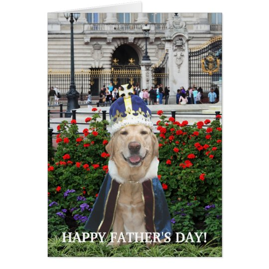 Funny Lab Father's Day Card