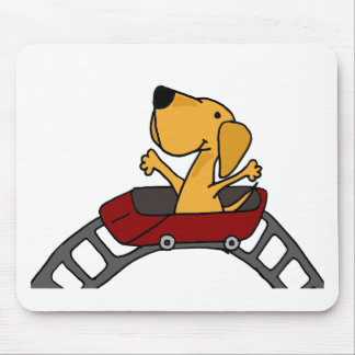 Funny Labrador on Roller Coaster Mouse Pad