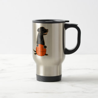Funny Labrador Retriever Playing Basketball Travel Mug