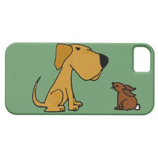 Funny Labrador Retriever with Rabbit iPhone 5 Case