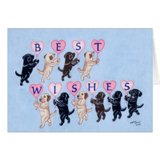 Funny Labradors for Wedding Greeting Card