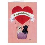 Funny Labradors for Wedding Card
