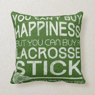 Funny Lacrosse Design Throw Pillows