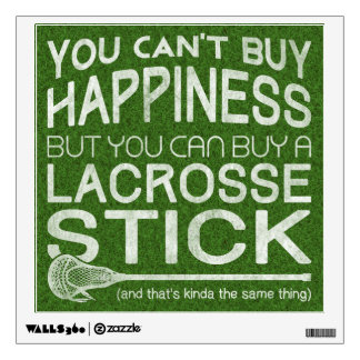 Funny Lacrosse Print Art Work Wall Sticker